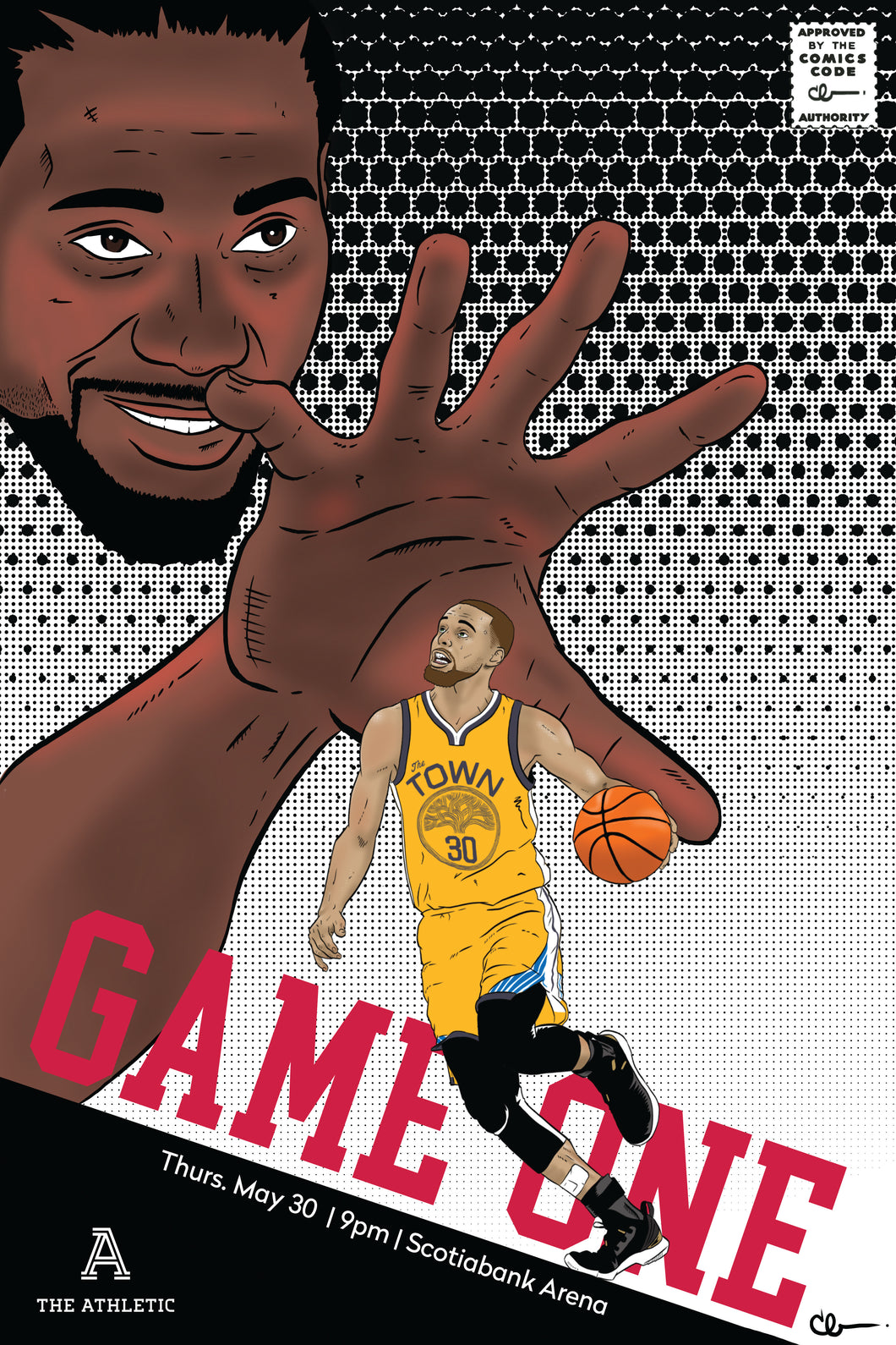 2019 NBA Finals Game 1 - Gameday Poster - Toronto Raptors vs Golden State Warriors