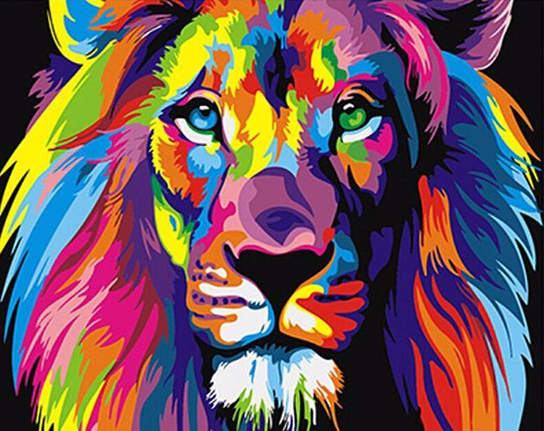 Colorful Lion- Van-Go Paint Number Kit