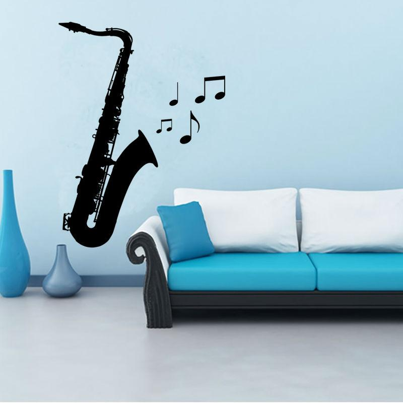Removable Saxophone Wall Stickers