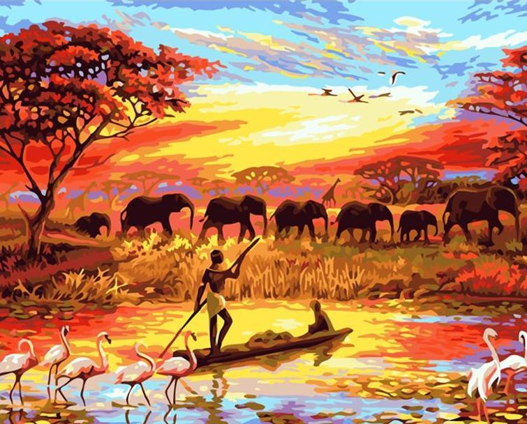 African Sunset - Van-Go Paint Number Kit