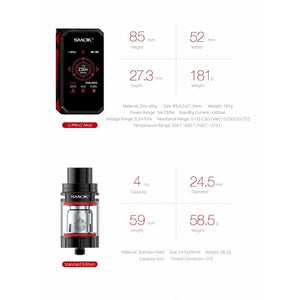 SMOK G-Priv 2 Touch Screen 230W TC Starter Kit With TFV8 X-Baby Tank