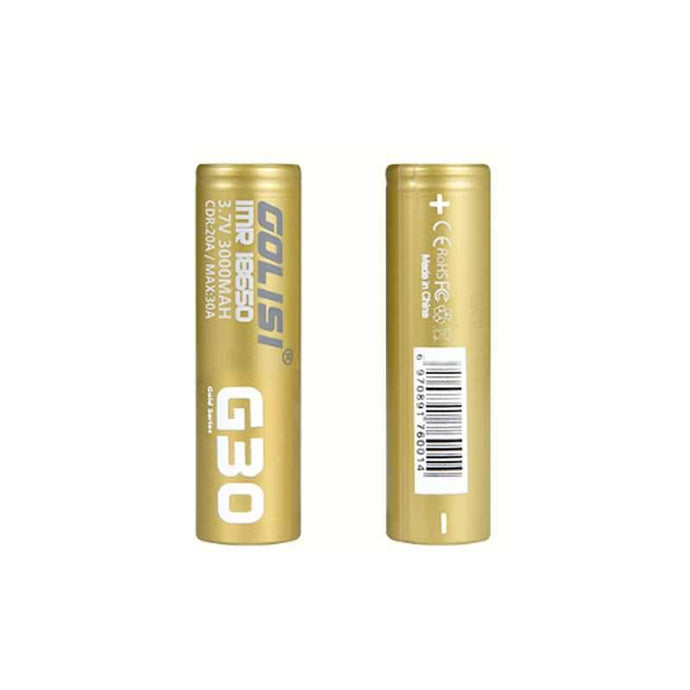 Golisi G30 High Drain 3000mAh 18650 Batteries 2pk @ FantasyVapeShop.com