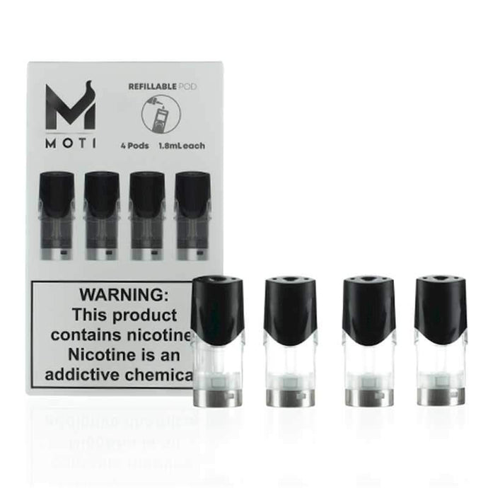 MOTI Vape Refillable Replacement Pods 4pk @ FantasyVapeShop.com