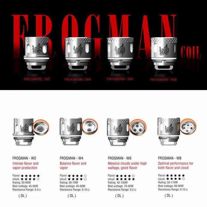 Vaptio Frogman W-Series Replacement Coils 5pk @ FantasyVapeShop.com