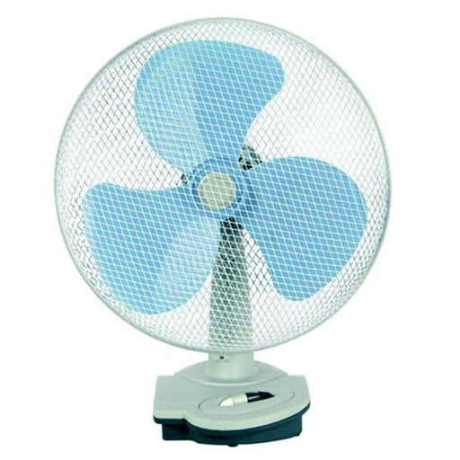 Ventilatore domestico da tavolo bianco/pale colorate cm 30 - Syntesy mod. 04748
