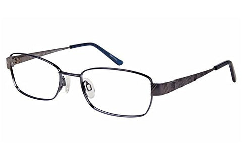 Charmant Women's Eyeglasses TI12107 TI/12107 BL Blue Full Rim Optical Frame 52mm - Mall Bloc