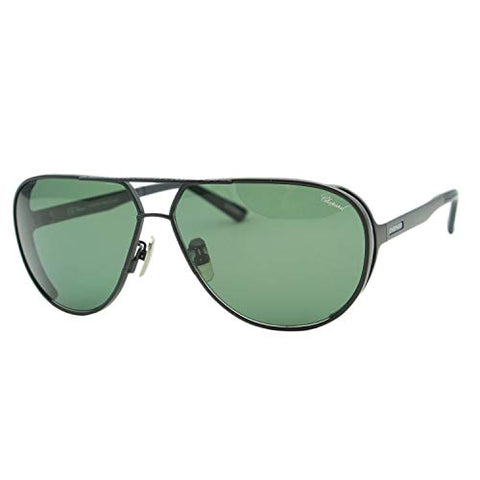 Chopard Mille Miglia SCH-A81 Men Black Titanium Polarized Aviator Sunglasses - Mall Bloc
