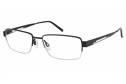 Charmant Men's Eyeglasses TI11436 TI/11436 BK Black Titanium Optical Frame 53mm - Mall Bloc