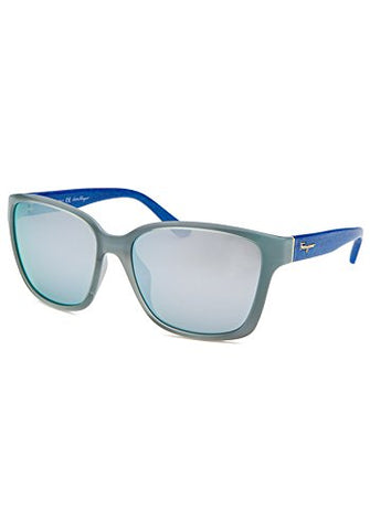 Salvatore Ferragamo Sunglasses SF716S 442 Azure Blue Wood 58 16 135 - Usa-optical.com
