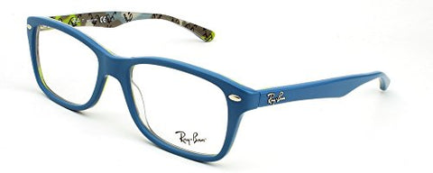 Ray Ban RX5228 Eyeglasses-5407 Top Blue On Texture Camouflage-53mm