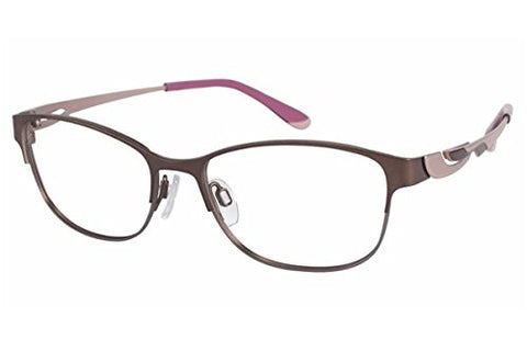 Charmant Perfect Comfort Eyeglasses TI/10602 BR Brown Optical Frame 52mm - Mall Bloc