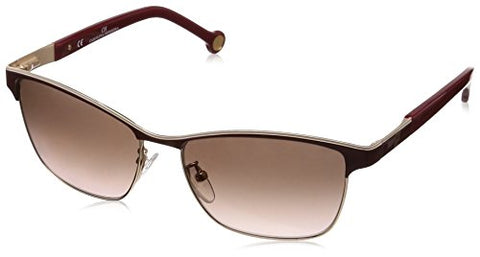 Carolina Herrera Designer Sunglasses SHE069-0484 in Brown 56mm