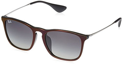 Ray-Ban Men's Chris (f) Square Sunglasses RED 53.8 mm