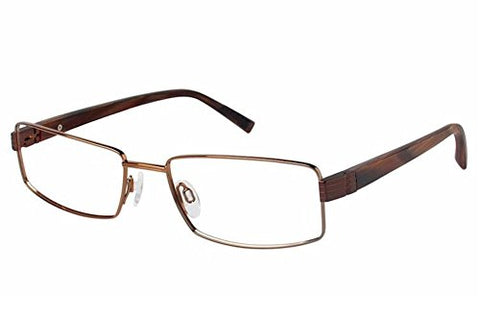 Charmant Men's Eyeglasses TI10741 TI/10741 BR Brown Full Rim Optical Frame 54mm - Mall Bloc