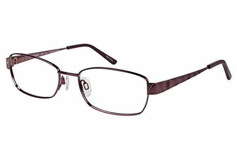 Charmant Eyeglasses TI12107 TI/12107 PU Purple Full Rim Optical Frame 54mm - Mall Bloc