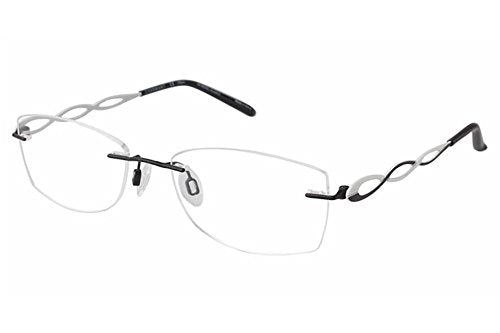 Charmant Women's Eyeglasses TI10967 TI/10967 BK Black Rimless Optical Frame 51mm - Mall Bloc