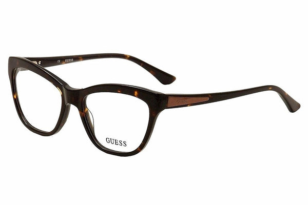 Guess Women's Eyeglasses GU2463 GU/2463 TO Tortoise Full Rim Optical Frame 53mm - Mall Bloc