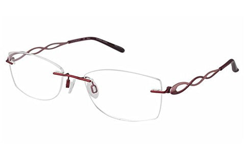 Charmant Women's Eyeglasses TI10967 TI/10967 RE Red Rimless Optical Frame 51mm - Mall Bloc