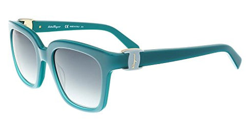 Salvatore Ferragamo SF782S 441 52mm Turquoise Grey Gradient Sunglasses - Usa-optical.com