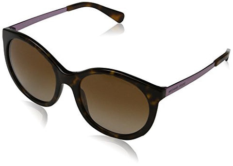 Michael Kors MK2034 320013 Dark Tortoiseshell Island Tropics Round Sunglasses L - Usa-optical.com