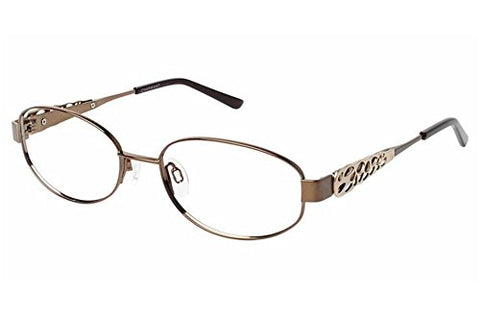 Charmant Womens Eyeglasses TI12105 TI/12105 BR Brown Full Rim Optical Frame 53mm - Mall Bloc