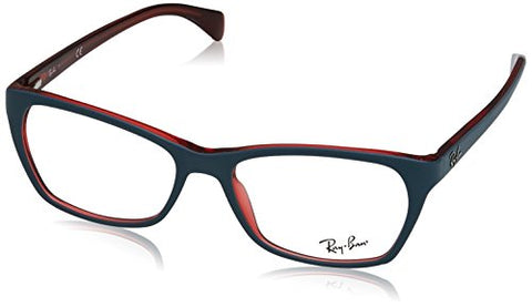 Ray Ban RX5298 Eyeglasses-5388 Top Matte Oil On Transparent Red-55mm