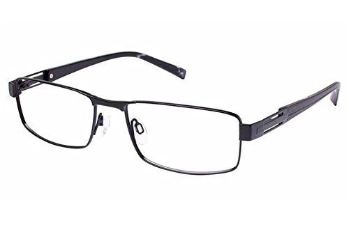 Charmant Men's Eyeglasses TI11427 TI/11427 BK Black Full Rim Optical Frame 55mm - Mall Bloc