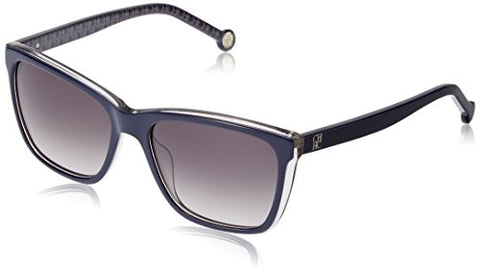 Carolina Herrera Designer Sunglasses SHE695-0N86 in Dark Blue 55mm - Mall Bloc
