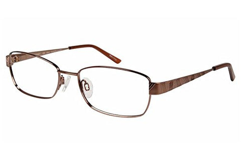 Charmant Womens Eyeglasses TI12107 TI/12107 BR Brown Full Rim Optical Frame 52mm - Mall Bloc
