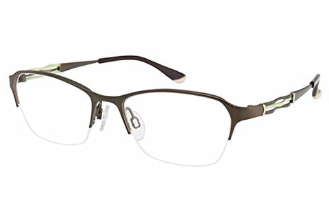 Charmant Perfect Comfort Eyeglasses TI/10604 GN Green Optical Frame 51mm - Mall Bloc