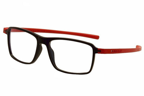 Tag Heuer Eyeglasses Reflex 3 TH3952 TH/3952 004 Black/Red Optical Frame 58mm