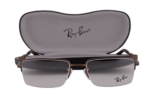 Ray Ban RX6285 Eyeglasses 53-18-140 Dark Matte Brown 2758 RX 6285