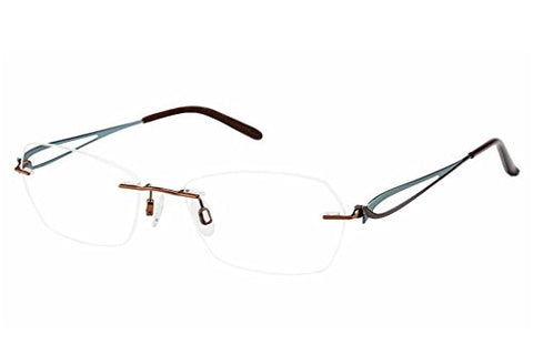 Charmant Eyeglasses TI10968 TI/10968 BR Brown Rimless Optical Frame 51mm