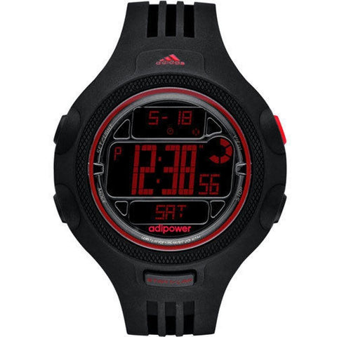 Adidas Men's Adipower ADP3131 Black Rubber Watch - Mall Bloc
