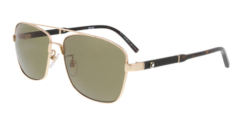 Mont blanc MB589S-F 28H Gold Rectangular Sunglasses