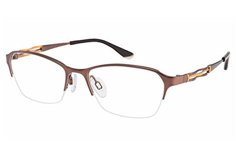 Charmant Perfect Comfort Eyeglasses TI/10604 BR Brown Optical Frame 51mm - Mall Bloc