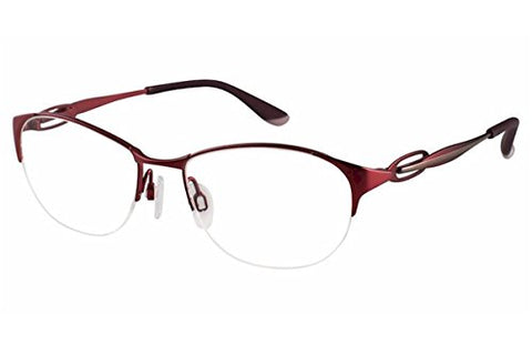 Charmant Perfect Comfort Women's Eyeglasses TI/10611 RE Red Optical Frame 51mm - Mall Bloc