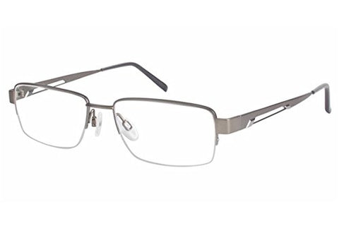 Charmant Men's Eyeglasses TI11436 TI/11436 GR Gray Titanium Optical Frame 53mm - Mall Bloc