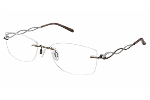 Charmant Women's Eyeglasses TI10967 TI/10967 LB Brown Rimless Optical Frame 51mm - Mall Bloc