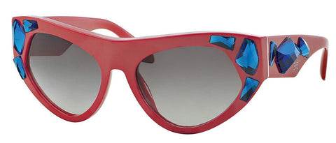 Prada Women's 0PR 21QS - Red Frame/Gray Gradient Lens - Usa-optical.com