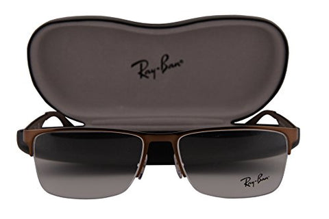Ray Ban RX6335 Eyeglasses 56-17-145 Brushed Brown 2531 RX 6335