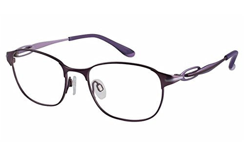 Charmant Perfect Comfort Eyeglasses TI/10610 PU Purple Optical Frame 52mm - Mall Bloc