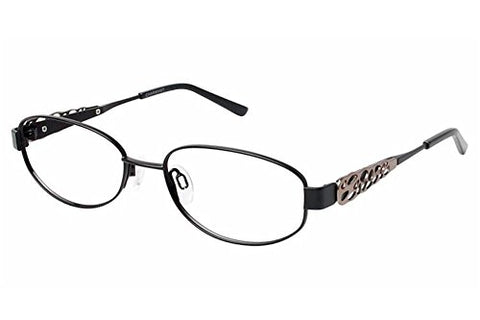 Charmant Womens Eyeglasses TI12105 TI/12105 BK Black Full Rim Optical Frame 53mm - Mall Bloc