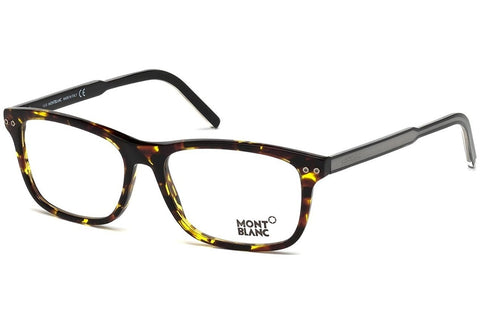 Montblanc Rectangular Eyeglasses MB621 A56 Size: 55mm Tortoise/Black 621 - Usa-optical.com