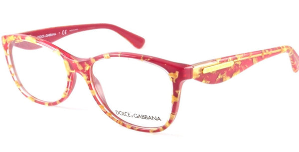 Dolce & Gabbana DG3174 Eyeglasses-2748 Leaf Gold On Red-54mm - Usa-optical.com