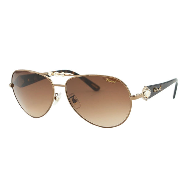 Chopard - SCH 997S, Aviator, acetate/metal, women, SHINY BRONZE HAVANA/BROWN SHADED(0R80 C), 61/14/135 - Mall Bloc