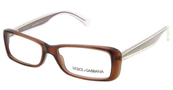 Dolce & Gabbana DG3142 Eyeglasses-2542 Transparent Brown-51mm - Mall Bloc