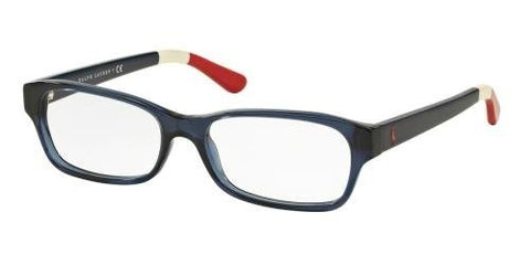 Polo PH2147 Eyeglass Frames 5573-52 - Shiny Cristal Blue - Mall Bloc