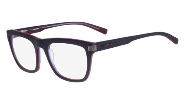 Nautica N8112 Eyeglasses 316 Matte Navy - Usa-optical.com
