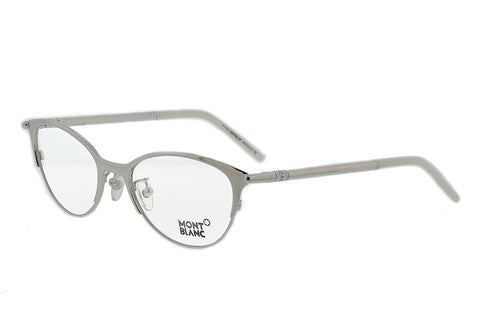 Mont Blanc Women's MB0438 016 Palladium Grey Cateye 52mm Eyeglasses - Usa-optical.com